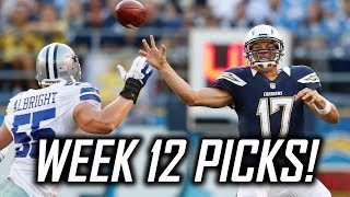 Download 2017 NFL Week 12 Predictions and Picks - Chargers at Cowboys, Saints at Rams, and More! Video