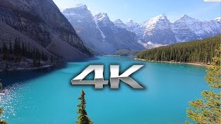 Download Endless Looping 4K Scene: Moraine Lake, Banff Alberta + Nature Sounds Screensaver Video