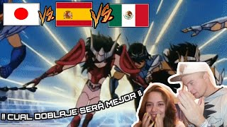Download ESPAÑOLES REACCIONAN A CABALLEROS DEL ZODIACO OPENING 2😍😱 Japones vs Castellano vs Latino Video