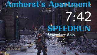 Download The Division - Amherst's Apartment Legendary Solo SpeedRun 07:42 [PC#1.8.1] Video
