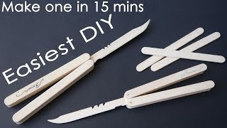 Download EASIEST way to make popsicle stick butterfly knife - DIY 2018 Video