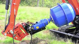 Download Tariere betonniere auger torque minipelle tractopelle minichargeur Video