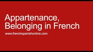 Download Belongings in French Video