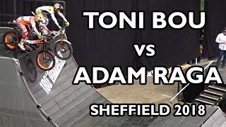 Download Adam Raga vs Toni Bou - Sheffield Indoor Motorbike Trial 2018 Video