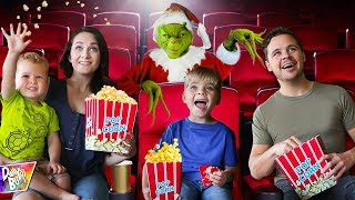 Download THE GRINCH Surprised Us with a PRIVATE MOVIE THEATER PARTY! Video