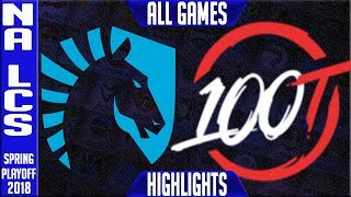 Download TL vs 100 Highlights ALL GAMES | NA LCS Grand Final Playoffs Spring 2018 Team Liquid vs 100 Thieves Video