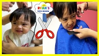 Download BABY'S FIRST HAIRCUT flashback+ Kid Haircut Toys Trains Firetruck Ride On Car for Kids Video Video