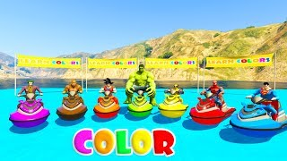 Download LEARN COLORS JETSKI and MOUNTAIN BIKE 3D Cartoon for kids and babies Video