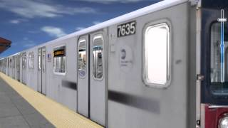 MSTS - OpenRails Multiplayer MNRR M2 vs MTA R142A Race  Free