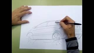 Download Overlay sketch tutorial - SUV car design Video