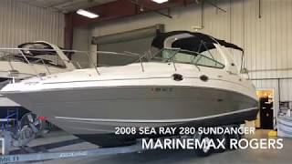 Download 2008 Sea Ray 280 Sundancer Boat for Sale MarineMax Rogers Video