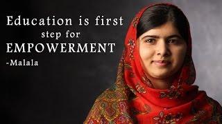 Download Malala's inspirational speech to empower women : NewspointTV Video