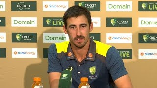 Download Pujara's run out was a good way to finish the day - Mitchell Starc Video