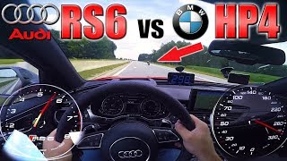 Download RS6 Performance chasing BMW HP4 Superbike on German Autobahn ✔ Video
