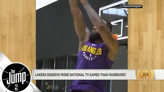 Download Do LeBron James-led Lakers deserve more national TV games than Warriors?   The Jump   ESPN Video