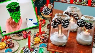 Download 10 DIY Christmas Decoration Ideas 2017. Recycling pine cones Video