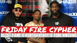 Download Friday Fire Cypher: Kontraversy x Tobe Nwigwe Freestyle Over Some Alist Fame Beats Video