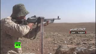 Download Firefight: Syrian army battles ISIS militants in Homs countryside Video