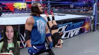 Download WWE Smackdown 11/29/16 AJ Styles Confrontation with Ellsworth and Ambrose Video