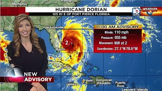Download Dorian downgraded to a Cat. 2 hurricane, tropical storm watch ended for Broward Video