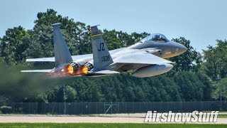 Download F-15 Eagle and F-22 Raptor Departures - EAA AirVenture Oshkosh 2017 Video