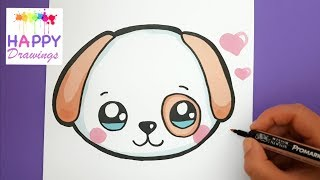 Download How To Draw and Color a Cute Puppy Emoji - EASY - HAPPY DRAWINGS Video
