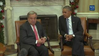 Download President Obama and UN Secretary General Guterres Video