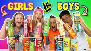 Download GIRLS vs BOYS Pringles Challenge!!! Video