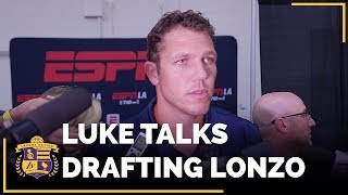 Download Luke Walton Reacts To Lakers Drafting Lonzo Ball At No. 2 Video