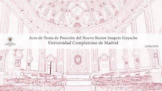 Download Acto de Toma de Posesión del Rector de la Universidad Complutense de Madrid Joaquín Goyache. Video