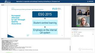 Download EUA webinar: Approaches to cooperation and exchange in learning and teaching on a European level Video