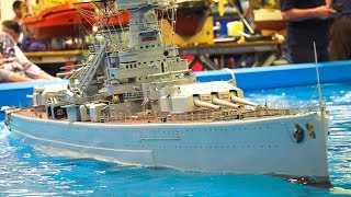 Download XXXL 128 KG!! RC SCALE MODEL SHIP!! *LARGE and HEAVY WEIGHT RC MODEL BATTLE CRUISER Video