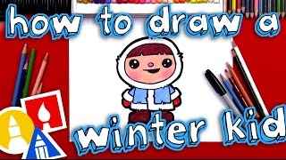 Download How To Draw A Cartoon Winter Kid Video