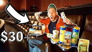 Download SNEAKING SNACKS IN THE MOVIE THEATER! ($30+) Video