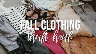 Download FALL CLOTHING Thrift Haul | GOODWILL FALL CLOTHING HAUL 2018 Video