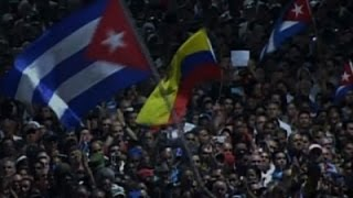 Download Raw: Fidel Castro Honored at Havana Rally Video
