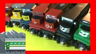 Download HD Compilation unpack 7 different Whittle Shortline Wooden Trains (03308 z multi) Video