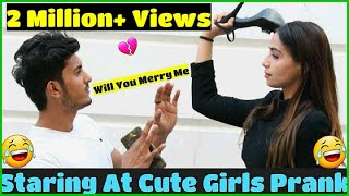 Download Staring At Cute Girls || Prank with Love || Sam Khan Video