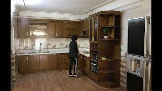 Download Mẫu tủ bếp gỗ sồi mỹ chữ L hiện đại kèm phụ kiện bếp thông minh- Khách hàng: Ms.Thắm- Quảng Ninh Video