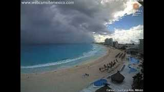 Download Cumulonimbus, heavy rain and shelf cloud visible from Cancún, Mexico (time-lapse) - Dec 12, 2012 Video