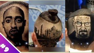 Download Nghệ Thuật Xăm Trên Tóc || Best Hair Tattoo 2018 || Đẳng Cấp Barber Kiểu Mỹ #9 Video