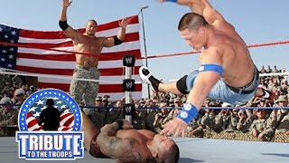 Download John Cena, Batista & Rey Mysterio vs. Randy Orton & Jeri-Show: Tribute to the Troops, Dec. 20, 2008 Video