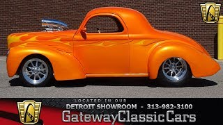 Download 1941 Willys Coupe Stock # 1200-DET Video