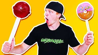 Download GIANT CANDY CHALLENGE! GIANT LOLLIPOP, DONUT, & MORE! Video