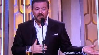 Download Ricky Gervais Mel Gibson Golden Globes 2016 Video