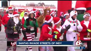 Download Thousands of runners take part in the Santa Hustle Video
