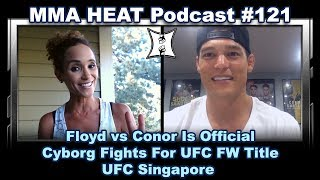 Download MMA H.E.A.T. Podcast #121: Floyd vs Conor Is Official! Cyborg Fights For FW Title; UFC Singapore Video