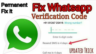 Download How To Fix Whatsapp Verification Code Not Receive Problem Solve {New} Video