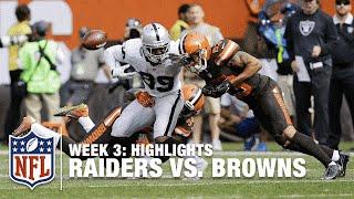 Download Raiders vs. Browns   Week 3 Highlights   NFL Video