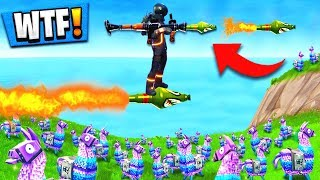 Download Using GUIDED MISSILES to WIN Fortnite: Battle Royale (Self Rocket Riding) Video